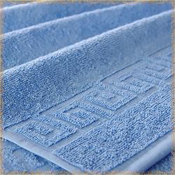Бордюр светло-сиреневое махровое полотенце