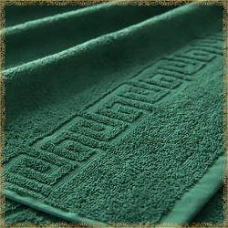 Бордюр темно-зеленое махровое полотенце