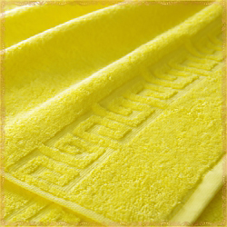 Бордюр Ярко-желтое махровое полотенце