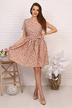 Платье на молнии летнее стильное 20617