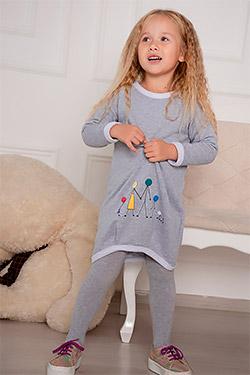 Платье на девочку на манжете 24301
