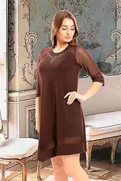 Платье нарядное с рукавами из сетки 24601