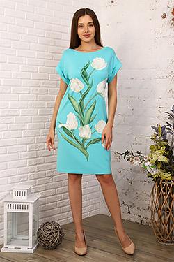 Платье летнее с вырезом лодочка 24832