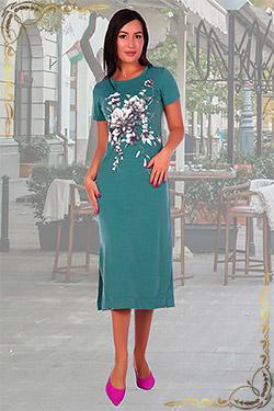 Платье удлинённое из вискозы 2515