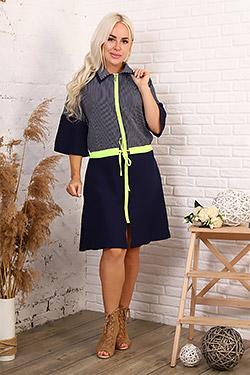 Платье-халат с кулиской 31544