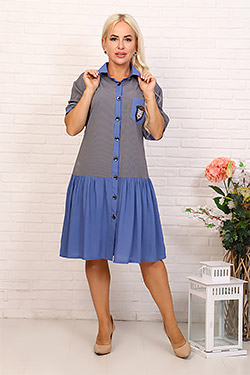 Платье-халат с заниженной талией 31545