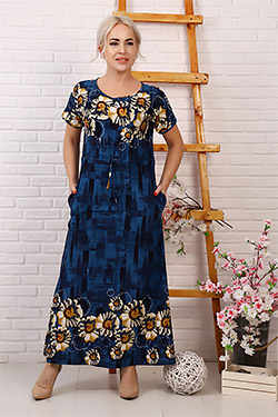 Платье длинное с разрезом 32010