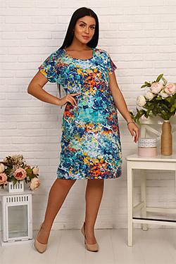 Платье летнее абстрактной расцветки 3392