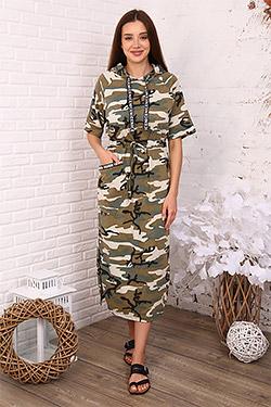 Платье модное в стиле милитари 3393