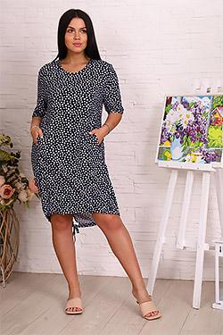 Платье летнее в горошек 3394