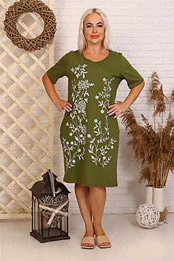 Платье домашнее с принтом 35512
