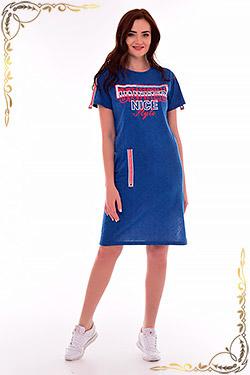 Платье под джинсовую ткань 4-073