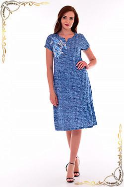 Платье женское с отрезной юбкой 4-69
