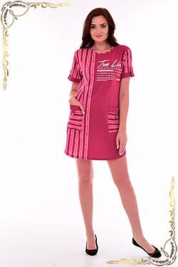 Платье комбинированное с карманами 4-71