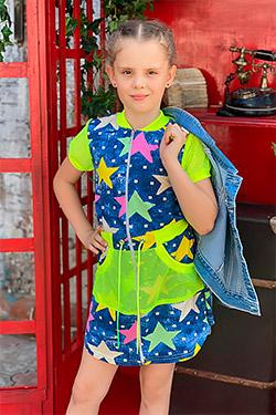 Платье на девочку на молнии трикотажное 5086