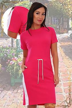 Платье больших размеров спортивного покроя 6703