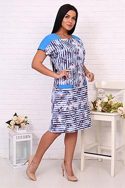Платье трикотажное домашнее 6728