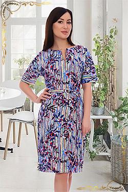 Платье молодежное с поясом 6845