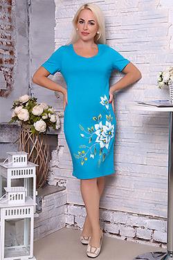 Платье  летнее прямого силуэта 6871