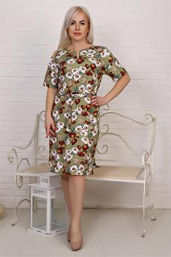 Платье женское с разрезом по горловине 6929
