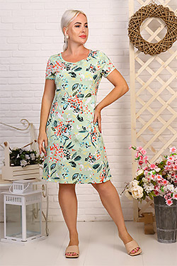 Платье трикотажное приталенное 6968