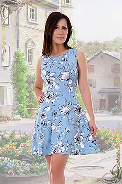 Летнее платье из вискозы 697
