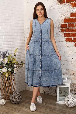 Платье джинсовое без рукавов 6978