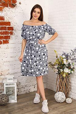 Платье летнее с открытыми плечами 6981