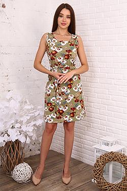 Платье летнее с поясом 6987