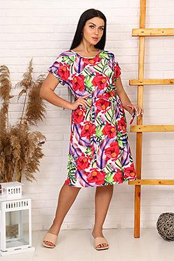 Платье летнее со спущенной проймой 6992