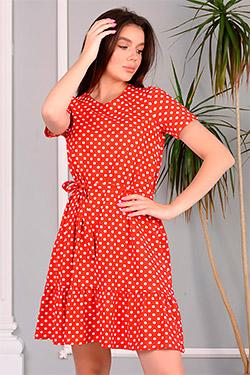 Платье летнее с поясом 6997
