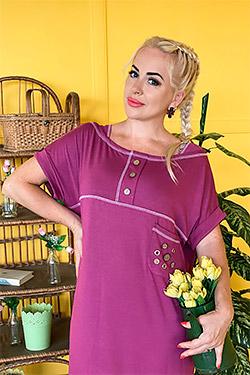 Платье женское с контрастной отстрочкой 7224