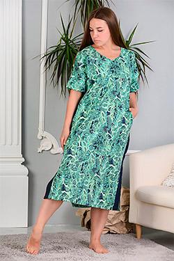 Платье летнее с лампасами по бокам 8128