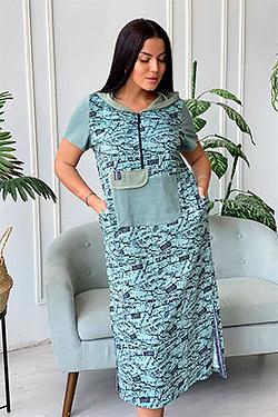 Платье стильное с отделкой сеткой 9067