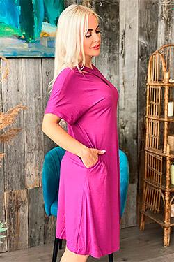 Платье трикотажное с оригинальным вырезом 9072