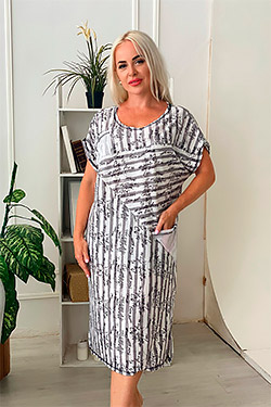 Платье трикотажное необычного покроя 9078