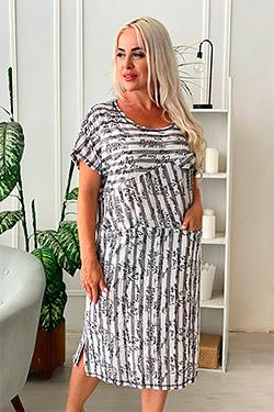 Платье трикотажное с внутренними карманами 9079