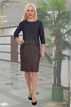 Платье женское больших размеров Фасон