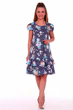 Платье летнее с воланом Лепесток