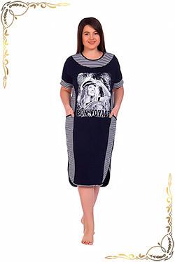 Платье женское трикотажное домашнее Миранда