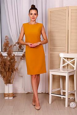 Платье на молнии классическое приталенное П008в