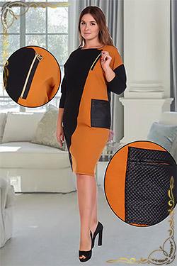 Платье больших размеров со вставками Сорбонна
