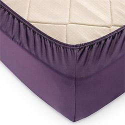 Простыня на резинке трикотаж Баклажан фиолетовая