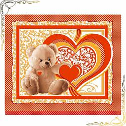 Вафельное полотенце Пора любви 2 47Х70