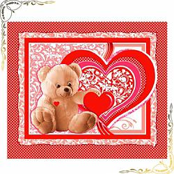 Вафельное полотенце Пора любви 47Х60