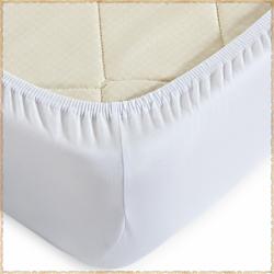Трикотажная простыня на резинке Белый