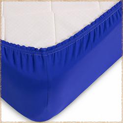 Трикотажная простыня на резинке Синий