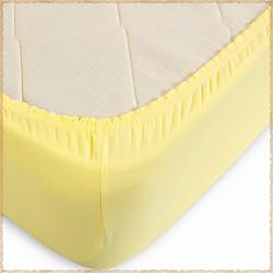 Трикотажная простыня на резинке Желтый