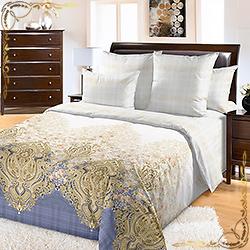 Комплект постельного белья Ребекка 1 голубой из перкаля