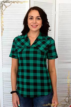 Рубашка трикотажная хлопковая Катрин